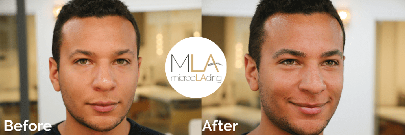 Microblading for Men Before and After Photo 4
