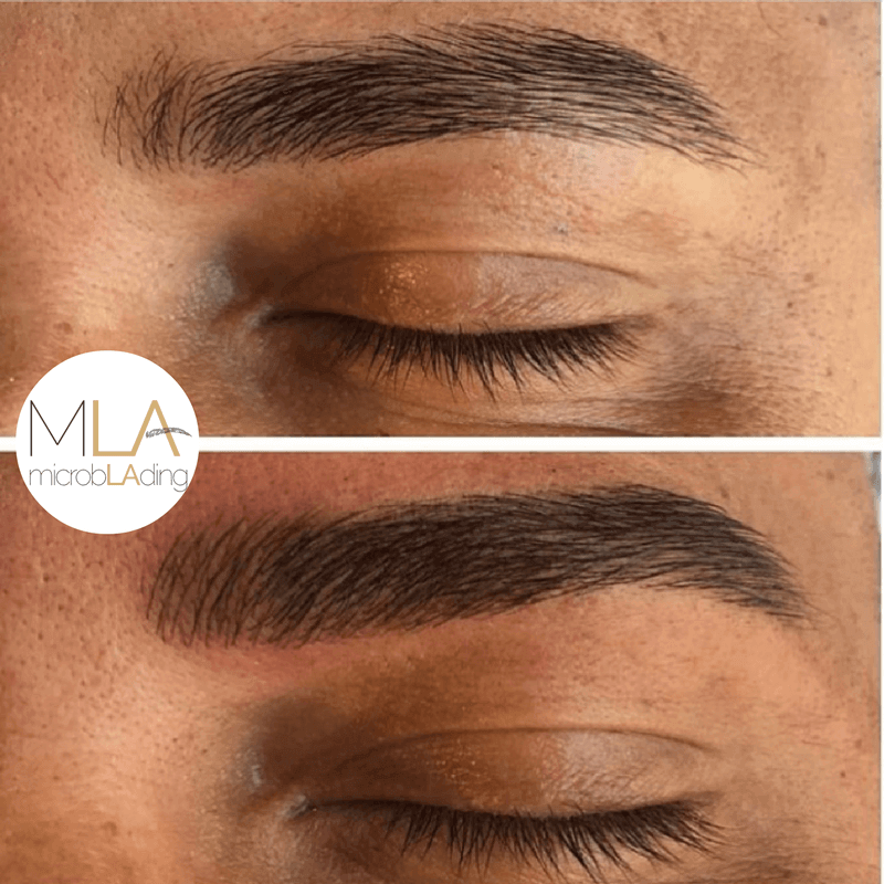 Microblading for Men Before and After Photo 3