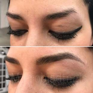 Microshading Eyebrows Before and After