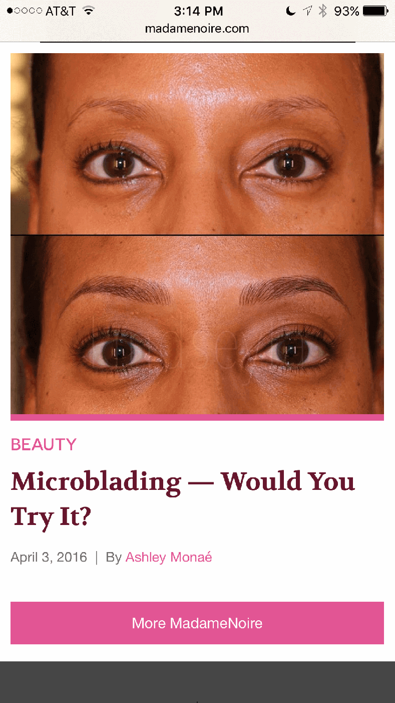Microblading LA featured on Madame Noire