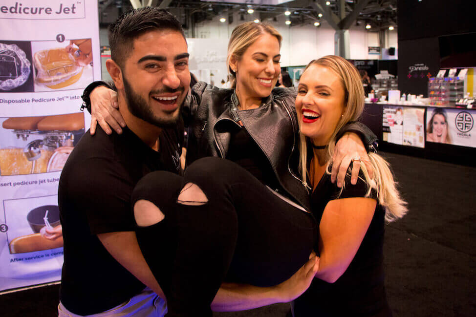 Microblading Artists have fun at Las Vegas International Beauty Show