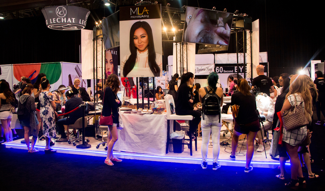 Microblading LA Booth at International Beauty Show 2017