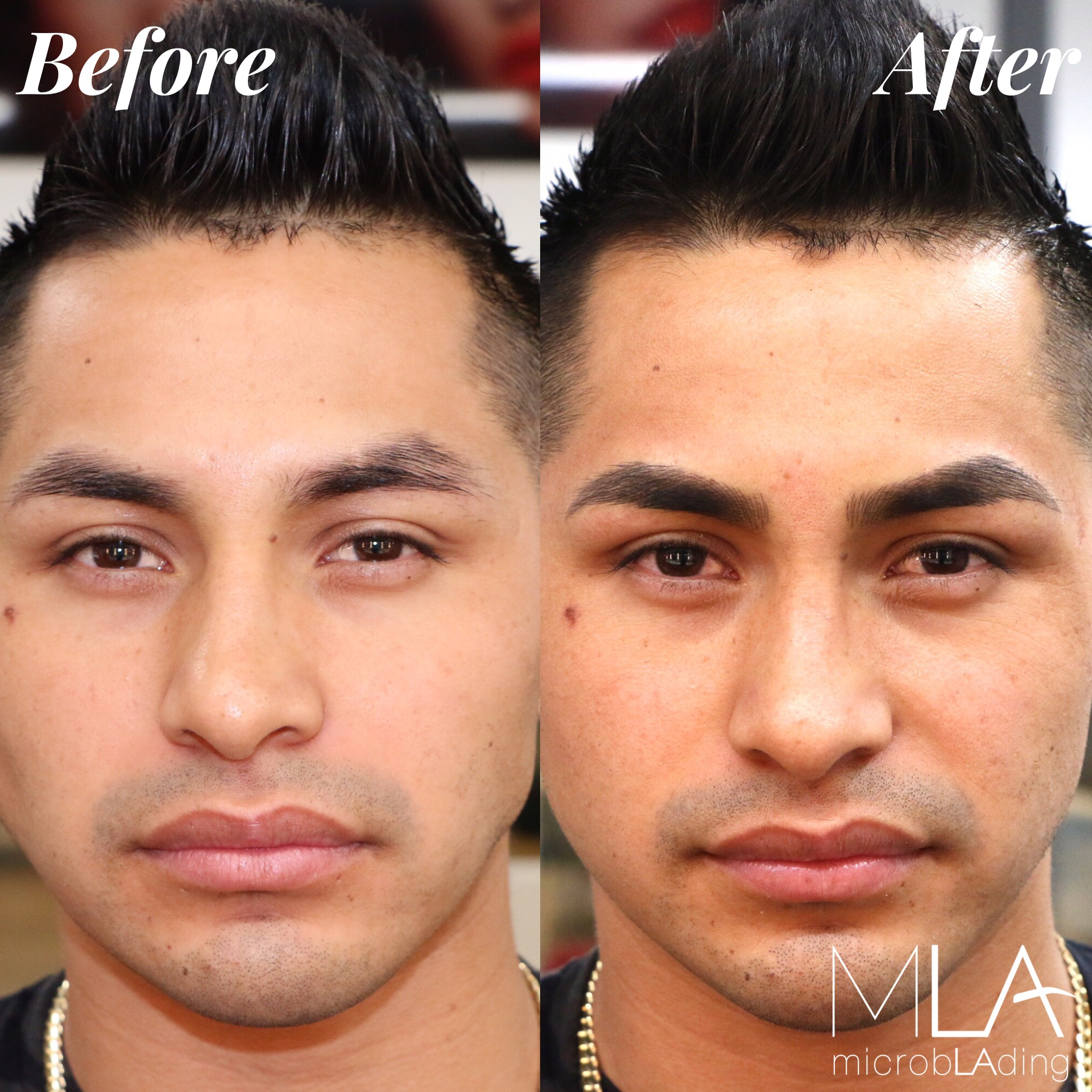 Men,Black Hair,Microblading